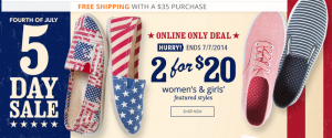 ENDS TODAY: 20% Off Clearance, 2 for $20 Canvas Shoes, and Up to 50% Off Sitewide at Payless!