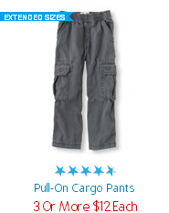 Pull on Cargo Pants 3 for 12
