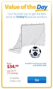 Walmart Soccer Goal 178x300 Franklin 4 x 6 Soccer Goal with BONUS Ball Just $34.99 | Was $51!