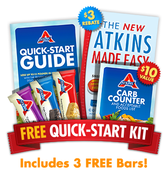 FREE Atkins Diet Quick-Start Kit With Three Free Bars!