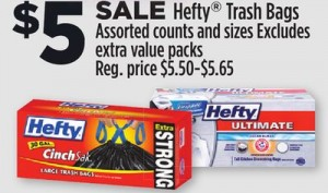 NEW DG Store Coupons = $3 Hefty Trash Bags!