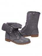 Foldover combat boots