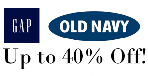 Gap and Old Navy sale