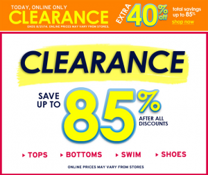 40% Off Everything + 40% Off Clearance at Justice | $6 Swimsuits, $4 Tanks, and $4 Shorts!
