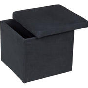 Mainstays square Ott Collapsable Faux Leather Storage Ottoman and Foot Stool Only $19 Shipped!