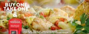 FREE Take Out Entree and Redbox Rental at Olive Garden!