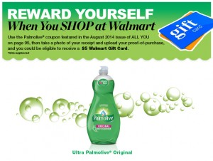 $3 Money Maker on Palmolive at Walmart After Gift Card!