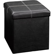 Small Storage Ottoman Collapsable Faux Leather Storage Ottoman and Foot Stool Only $19 Shipped!