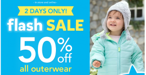 Carters Outerwear FLASH Sale: 50% Off + 25% Off and FREE Ship Coupon Codes!