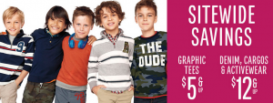 Up to 50% Off at The Children's Place | $5 Graphic Tees, $12 Denim, and More!