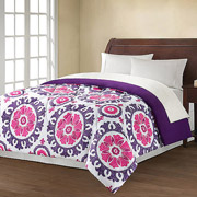 Mainstays Suzani Printed and Purple Reversible Comforter – $14.99 + Free Store Pickup!