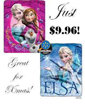 Disney Frozen Silk-Touch Throws Just $9.96 + FREE Store Pickup!