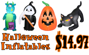 Inflatable Halloween Yard Decorations Just $15 + FREE Store Pickup!