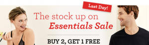 Hanes B2G1 FREE Essentials Sale | Great Deals + $1.99 Shipping!