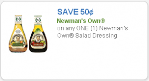 NEW Newman's Own Salad Dressing Coupon | Great Doubler!