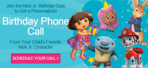 FREE Personalized Birthday Call From Nick Jr. Charachter!