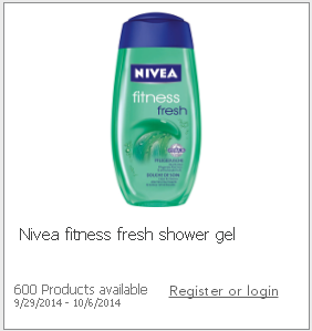 Nivea Fitness Fresh Shower Gel