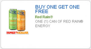 *HOT* BOGO Free Red Rain Energy Drink Family Dollar Coupon!