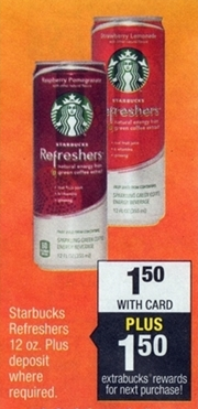 Money Maker Starbucks Refreshers at CVS Starting 9/21/14!