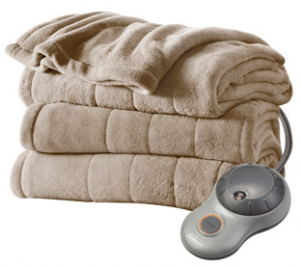 *HOT!* Sunbeam Heated Plush Electric Blanket Just $19.96 + FREE Store Pickup!