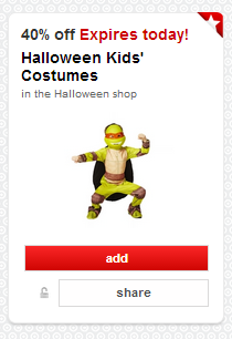 *HOT* 40% Off Halloween Costumes With Target Cartwheel!