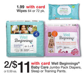 Well Beginnings Jumbo Pack Diapers Just $4.75 With New Coupon!