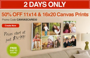 50% Off 11×14 and 16×20 Canvas Prints 50% Off | From $14.99 + Free Pickup!