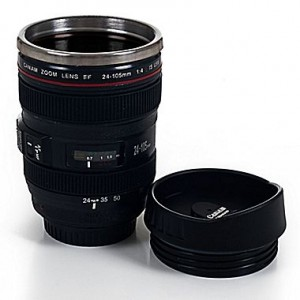 Gift Idea: Whetstone 12 oz. Camera Lens Coffee Mug with Lid—$6.99!