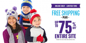 30% Off + FREE Shipping at The Children's Place (Today ONLY!)
