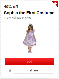 40% Off Sofia the First Costume Cartwheel Offer | As Low As $12!