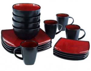 Gibson Home Soho Lounge 16-Piece Square Dinnerware Set—$29.97 + Free Pickup!