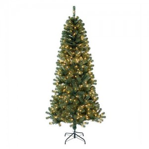 St. Nicholas Square 7-ft. Slim Noble Pine Pre-Lit Tree Just $47.49 After Stacked Codes and Kohl's Cash!