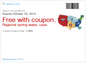 *HOT* FREE Case of Spring Water With Staples Printable Coupon!