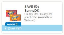 New Coupon for SunnyD Pouches!