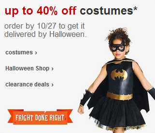 40% Off Halloween Costumes at Target + FREE Shipping!