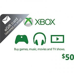 One $50 or Two $25 Xbox Cash Cards for Just $40!