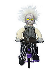 CREEPY Animated Zombie Baby on Tricycle Only $13.99!