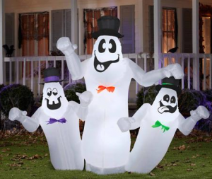halloween 6 ft ghost trio