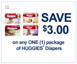 3 off Huggies