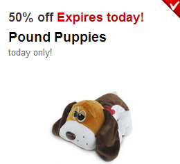 50 Off Pound Puppies Target Cartwheel