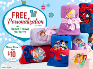 Disney Fleece Throws Free personalization