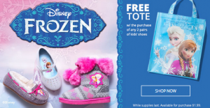 Free Frozen Tote payless
