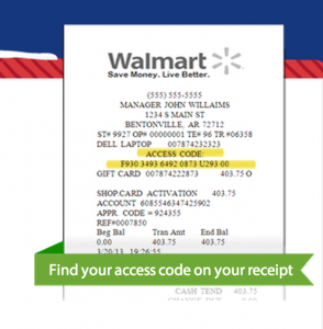 Register Walmart 1 Hour Guarantee Receipt 294x300 How to Register Walmart 1 Hour Guarantee Cards