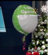 Walmart 1 Hour Guarantee Green balloon