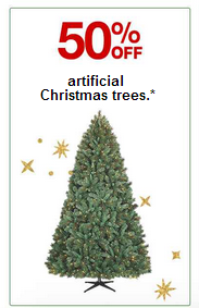 screenshot www.target.com 2014 11 23 17 05 06 Target: 50% Off Artificial Christmas Trees!