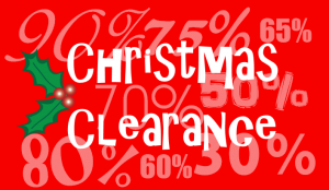 Christmas Clearance Sales