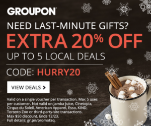 Groupon Extra 20 Off Local