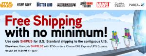 ThinkGeek free ship