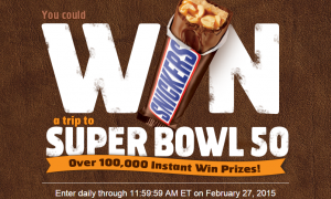 snickers instant win