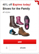 40 Off Shoes Target Cartwheel
